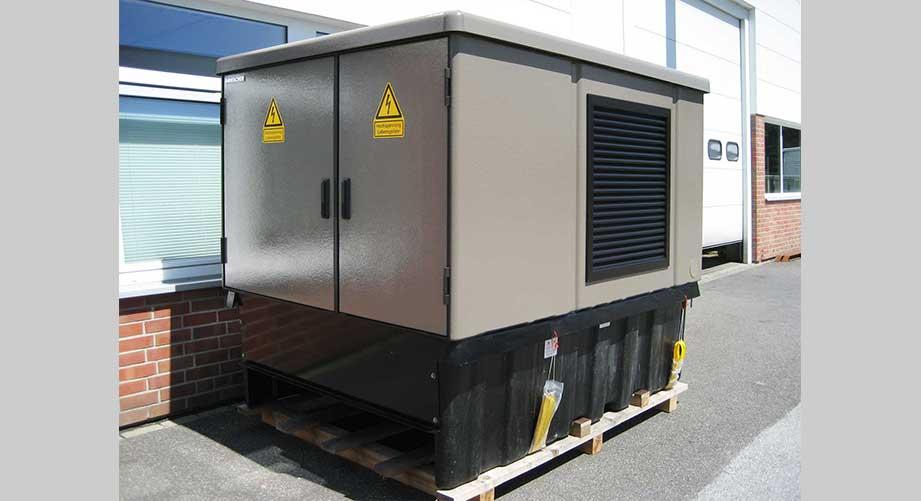 Kompaktstation 630 kVA mit Messfeld.