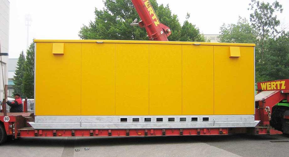 6/0,5/0,4 kV-Trafostation mit Tragkonstruktion für den Tagebaueinsatz