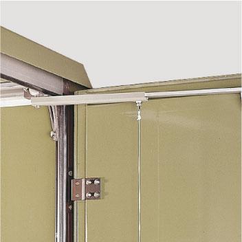Aluminium-Türfeststeller, selbsttätig einrastend, mit einem Öffnungswinkel von 90° (105°)
