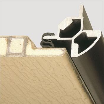 Robuste Tür aus glasfaserverstärktem Polyester mit Profil-Gummidichtung