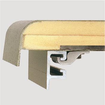 Sandwichdach mit PU-Hartschaumkern, Oberfläche in Vliesstruktur, schlag- und kratzfest