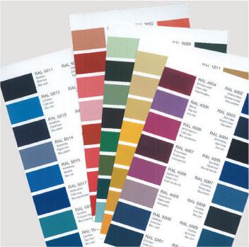 Farbe der Polyesterelemente nach Wunsch, alle RAL-Farben möglich