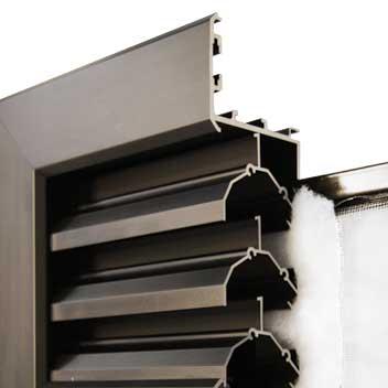 LM-Lüftungselement, stochergeschützt (ca. 45% freier Lüftungsquerschnitt), auch mit Insektenschutz oder Staubfilter