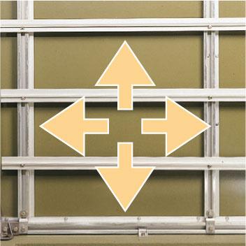 Profiltraversen, verschiebbar für individuelle Einbauten