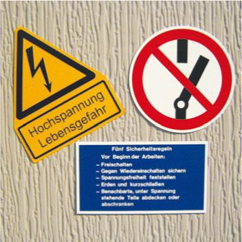 Warn- und Hinweisschilder, alle gängigen Normschilder lieferbar