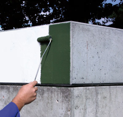 Rissüberbrückendes, witterungs- und UV-beständiges Oberflächenschutzsystem.