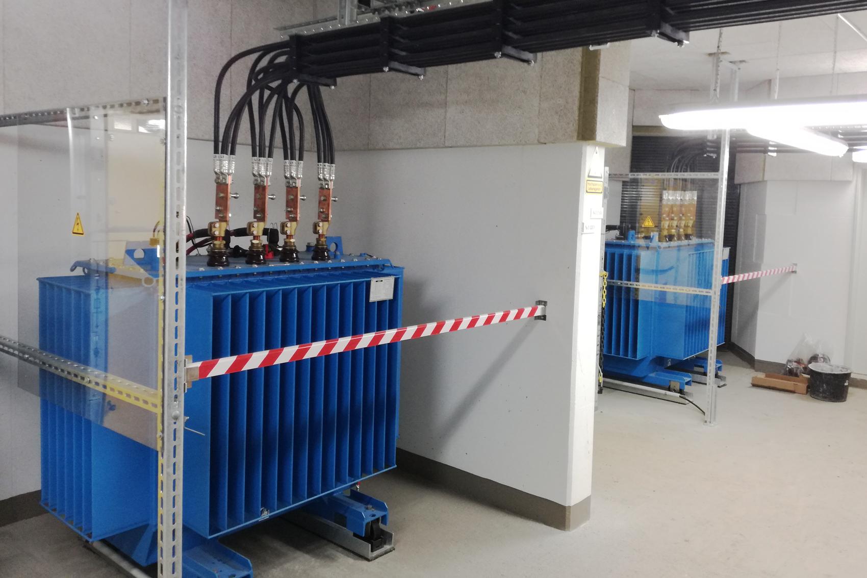 630 kVA Trafoanschluss EMV-gerecht ausgekreuzt