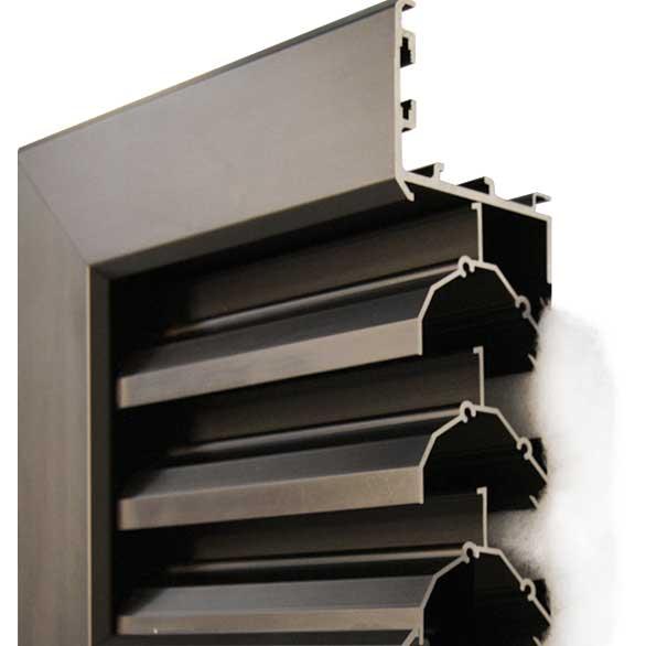 Leichtmetall-Lüftungselement, stochergeschützt, freier Lüftungsquerschnitt ca. 45 %